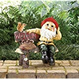 2 GARDEN GNOME WELCOME GREETING SIGNSby THE GIFT GALLERY