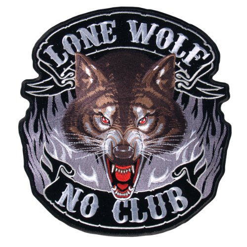 Hot Leathers Lone Wolf, No Club Patch (5