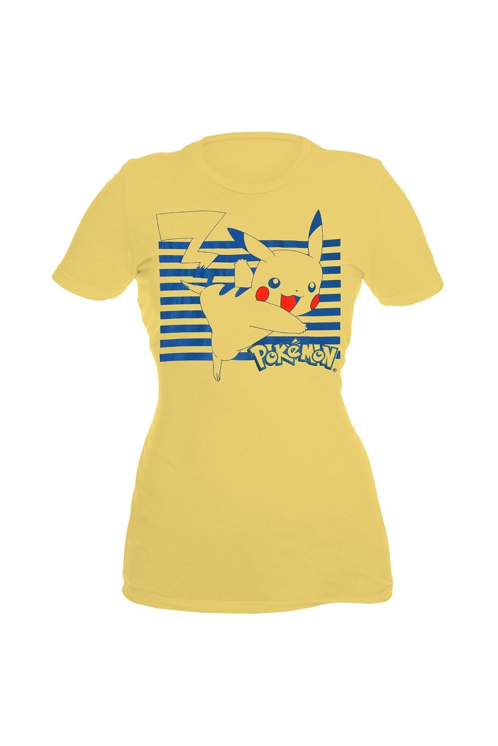 Pokémon Pikachu Striped Yellow Girls T-Shirt