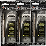 Fisher SPR4 Refills for Bullet Fisher Space Pen, Black, 3 Pack