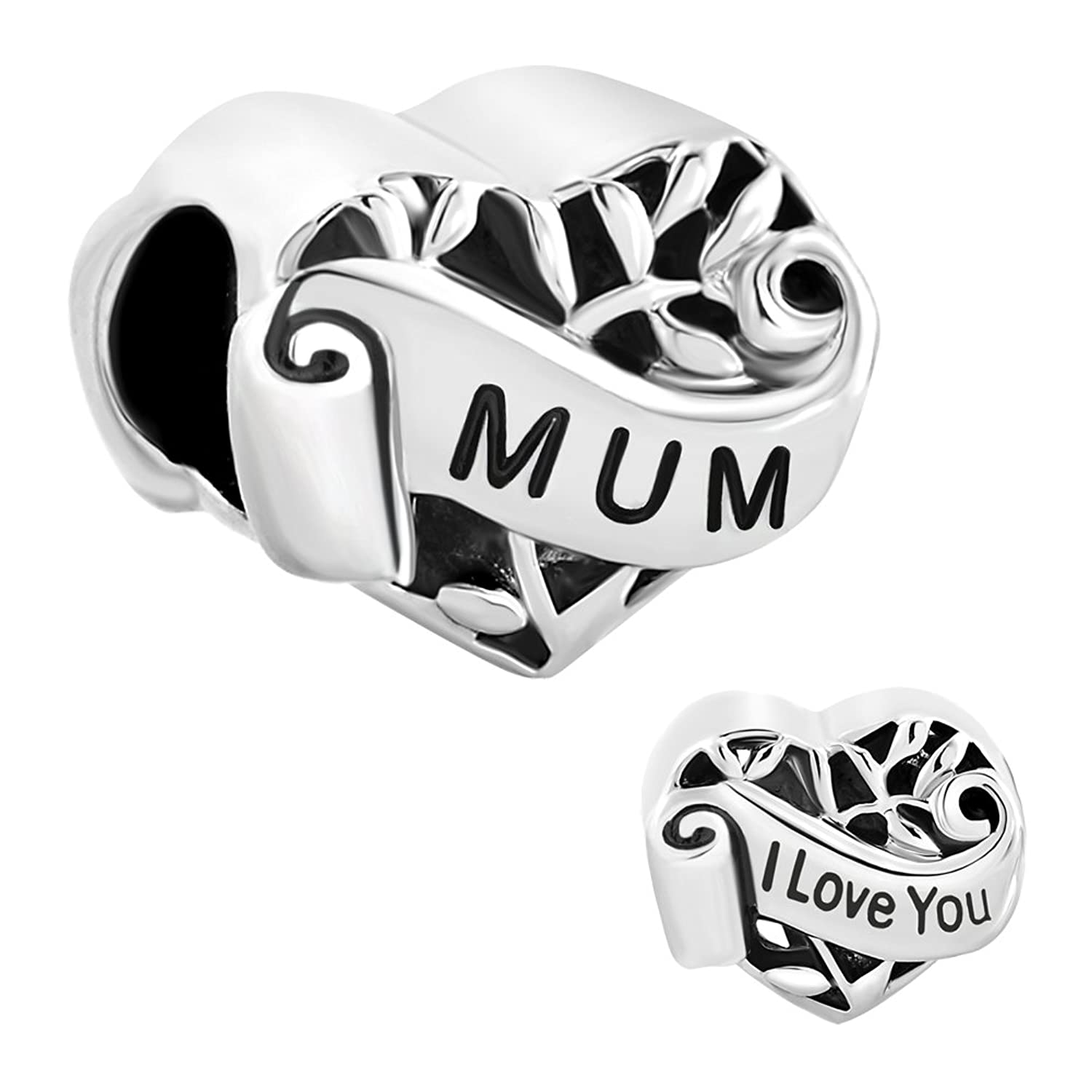 Heart Mum I Love You Mom Mother Filigree Charm Sale Cheap Jewelry Beads Fit Pandora Charms Bracelet pandora viola bloom flower pendant charm 790858spb cheap [5fea] $34 00 professional pandora outlet stores pandoraforyou cn