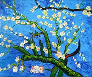 Reproduction Oil Painting - Van Gogh Paintings: Branches of an Almond Tree in Blossom