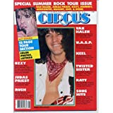 Circus Magazine VAN HALEN Rush JUDAS PRIEST Keel W.A.S.P. Metallica DIO Ozzy RATT Ted Nugent TWISTED SISTER June...