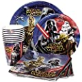 Star Wars Birthday Party Supplies Pack for 8 - Star Wars Lunch Plates, Star Wars Dessert Plates, Star Wars Napkins, Star Wars Cups, Star Wars Party Masks