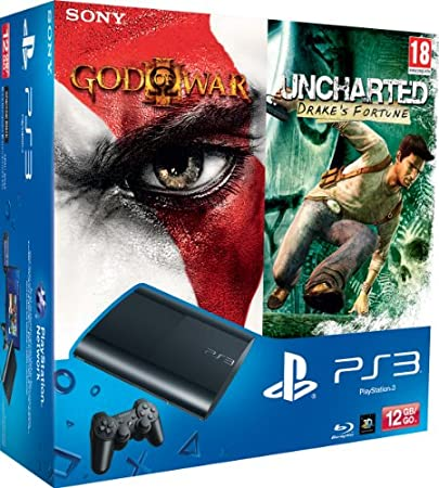 PlayStation 3 - Console 12 GB [M Chassis] con Essentials God Of War 3 e Uncharted [Bundle]