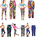 Towallmark Yoga High Waist Fitness Sport pants Printed Stretch Cropped Leggings