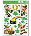 Leprechaun/Shamrock Glass - Window Clings 12in. x 17in. Sheet by PMU