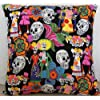 "Beautiful Mexican Los Novios Dressed Skeletons Black (16""x16"" (40cms x 40cms) approximately)"