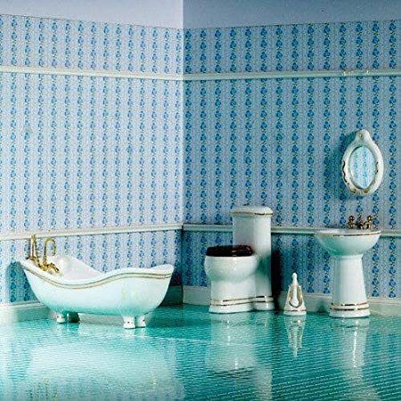 Dolls House Élégante salle de Savoie 6 pcs. 01:12 pour maison de poupées 4447