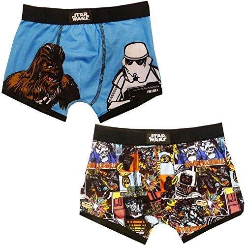 Con Licenza Ufficiale Supereroe Marvel O Star Wars Ragazzi Confezione Da 2 Boxer - Star Wars Boxer, età 4-5 anni