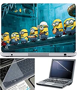 Anweshas Laptop Skin With Screen Guard and Key Protector Size 15.6 inch - Minion Food