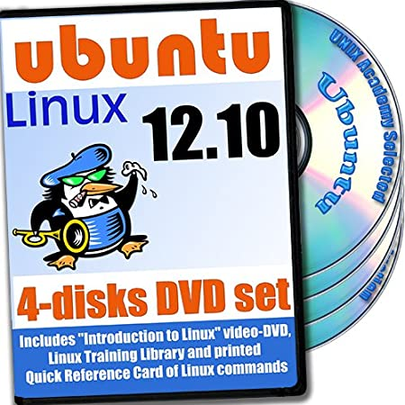 Ubuntu 12.10, 4-discs DVD Installation and Reference Set, Ed.2012