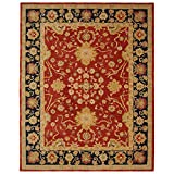 Safavieh Anatolia Collection AN517A Handmade Hand-Spun Wool Area Rug, 8-Feet by 10-Feet, Red and Navy