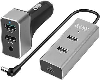 Unitek Dual-USB Car Charger w/ 3-Port USB Charging Hub