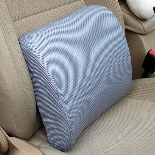 THG High Resilient Memory Foam Gray Seat Back Pain Support Cushion Pillow Pad Car Office Chair Lumbar Lower ache