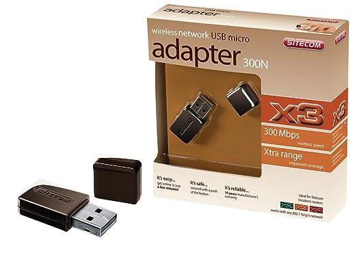 Sitecom N300 X3 - Accesorio de red (Inalámbrico, USB, WLAN, 300 Mbit/s, PC&Notebook, SFF)