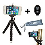 Flexible iPhone Tripod for Smartphone with Bluetooth Remote Control Compatible with iPhone X XS XR 8 7 6S 6 SE Galaxy S9 S8 S7 S6 Mini Cell Phone Trip