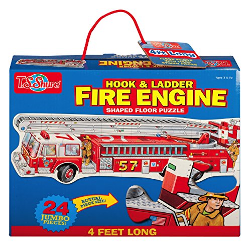 T.S. Shure Fire Engine Shaped Jumbo Floor Puzzle