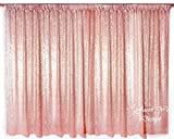 10FTx10FT Rose Gold Sparkly Photo Booth Backdrop Sequin, Choose Your Size Rose Gold Sequin Fabric Photo Booth,Sequin Curtains