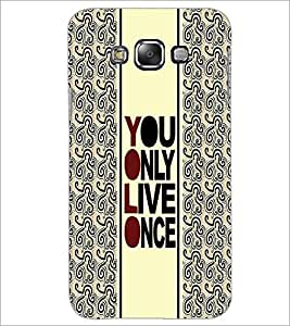 PrintDhaba Quote D-3354 Back Case Cover for SAMSUNG GALAXY E7 (Multi-Coloured)