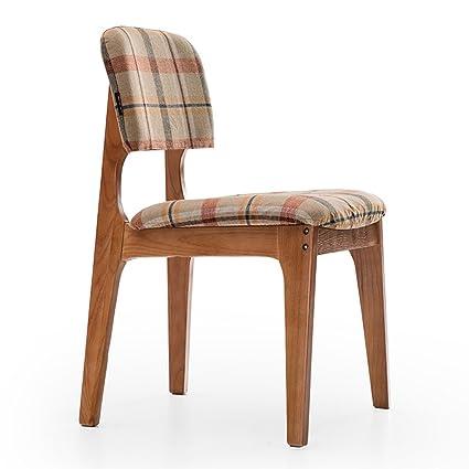 ERRU-Sillas Silla de madera Silla del respaldo de la silla del respaldo de la tabla de cena del café (3Colors, 50 * 52.5 * 80.5cm) ( Color : B )