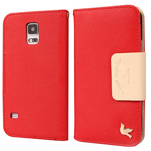 Galaxy S5 Case,[2PCS HD Screen Protectors]By HiLDA,Wallet Case,PU Leather Case,Credit Card Holder,Flip Cover Skin,Galaxy SV I9600[Red] (Louis Vuitton Samsung compare prices)