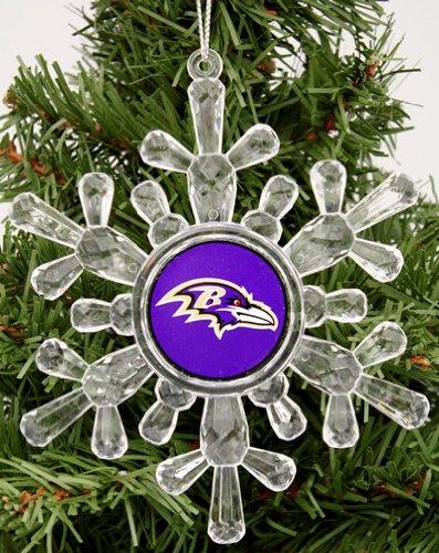 "Baltimore Ravens NFL Snowflake 4 1/2 "" Ornament"