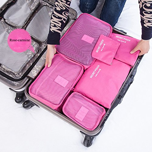 477493f5d899 Cocoly 6 sets travel Organizers Packing Cubes Luggage Organizers ...