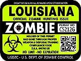 "ProSticker 1228 (One) 3″x 4″ Zombie Series ""Louisiana"" Hunting License Permit Decal Sticker"