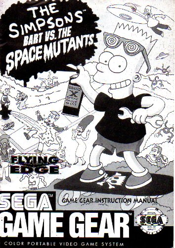 The Simpsons - Bart vs The Space Mutants Game Gear Instruction Booklet (SEGA GG MANUAL ONLY - NO GAME) Pamphlet - NO GAME INCLUDED (Bart Simpson Vs Space Mutants compare prices)