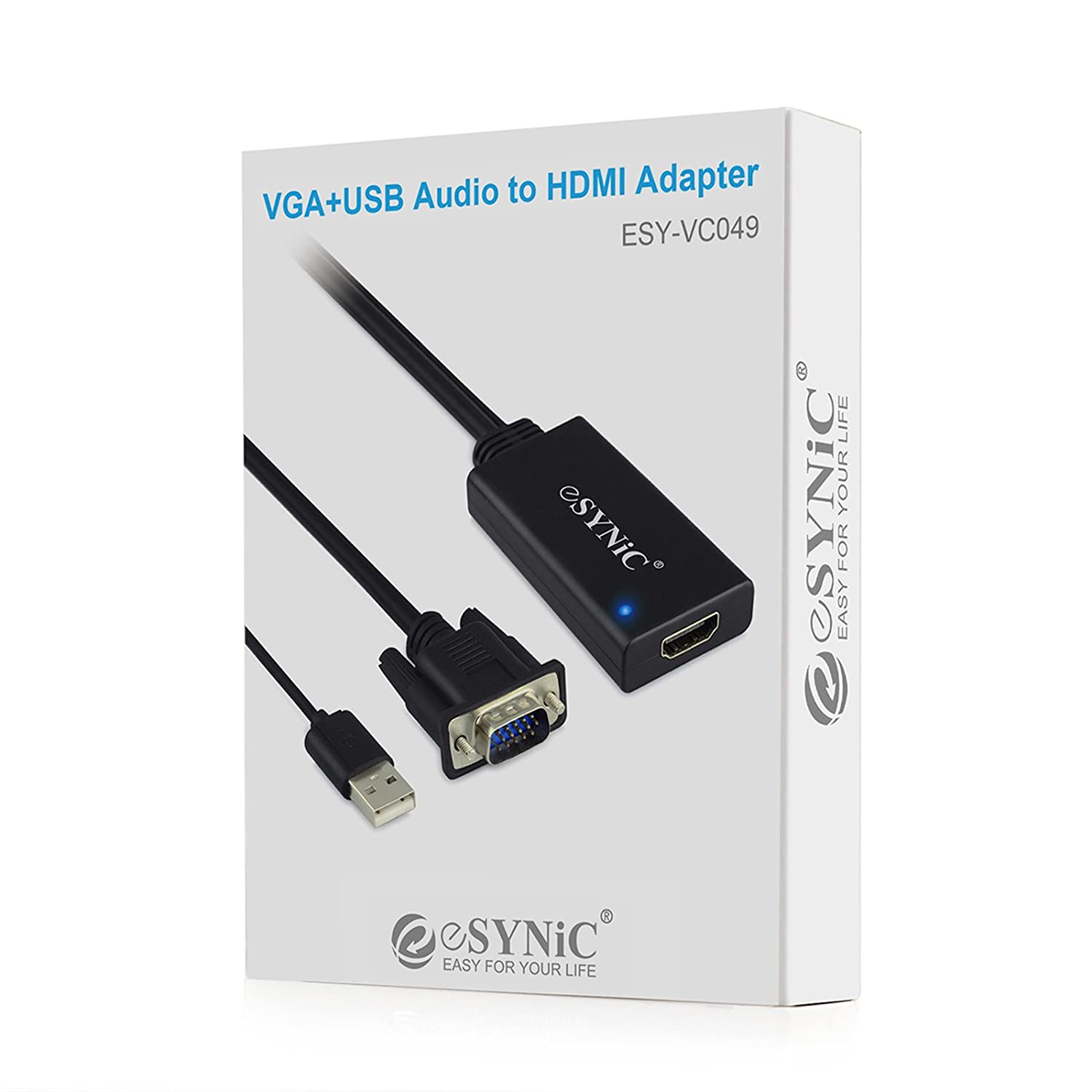 eSynic® VC049 1080P VGA to HDMI HD HDTV Video Adapter