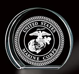 Marine Corps 3-D Etching Paperweight