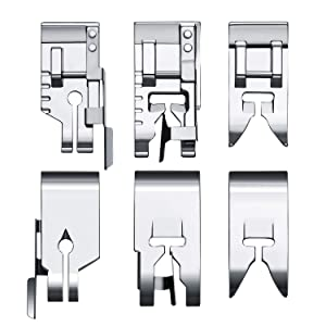 3 Pieces Stitch in Ditch Foot and 1/4 Inch Quilting Patchwork Presser Foot Set Suitable for Household Multi-Function Sewing Machines (Set B) (Color: Set B)