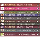 M C Beaton Hamish Macbeth - 10 book set: Death of a Gossip, Death of a Cad, Death of An Outsider, Death of a Perfect Wife, Death of a Hussy Death of a Snob Death of a Prankster, Death of a Glutton, Death of a Travelling Man and Death of a Charming Man
