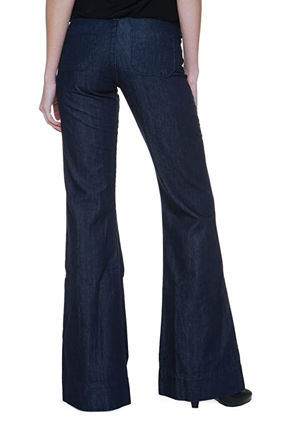 True Religion Flare Leg Jeans SANDRA SAILOR TROUSE Color Dark blue