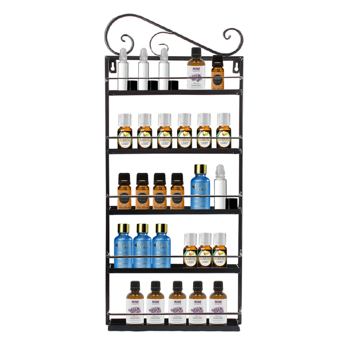 Professional Metal Nail Polish Essential Oils Mountable 5 Tier Organizer Display Rack Dazone