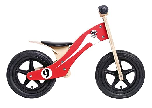 "Rebel Kidz Wood Air, 12"", Retro Racer rouge/blanc"