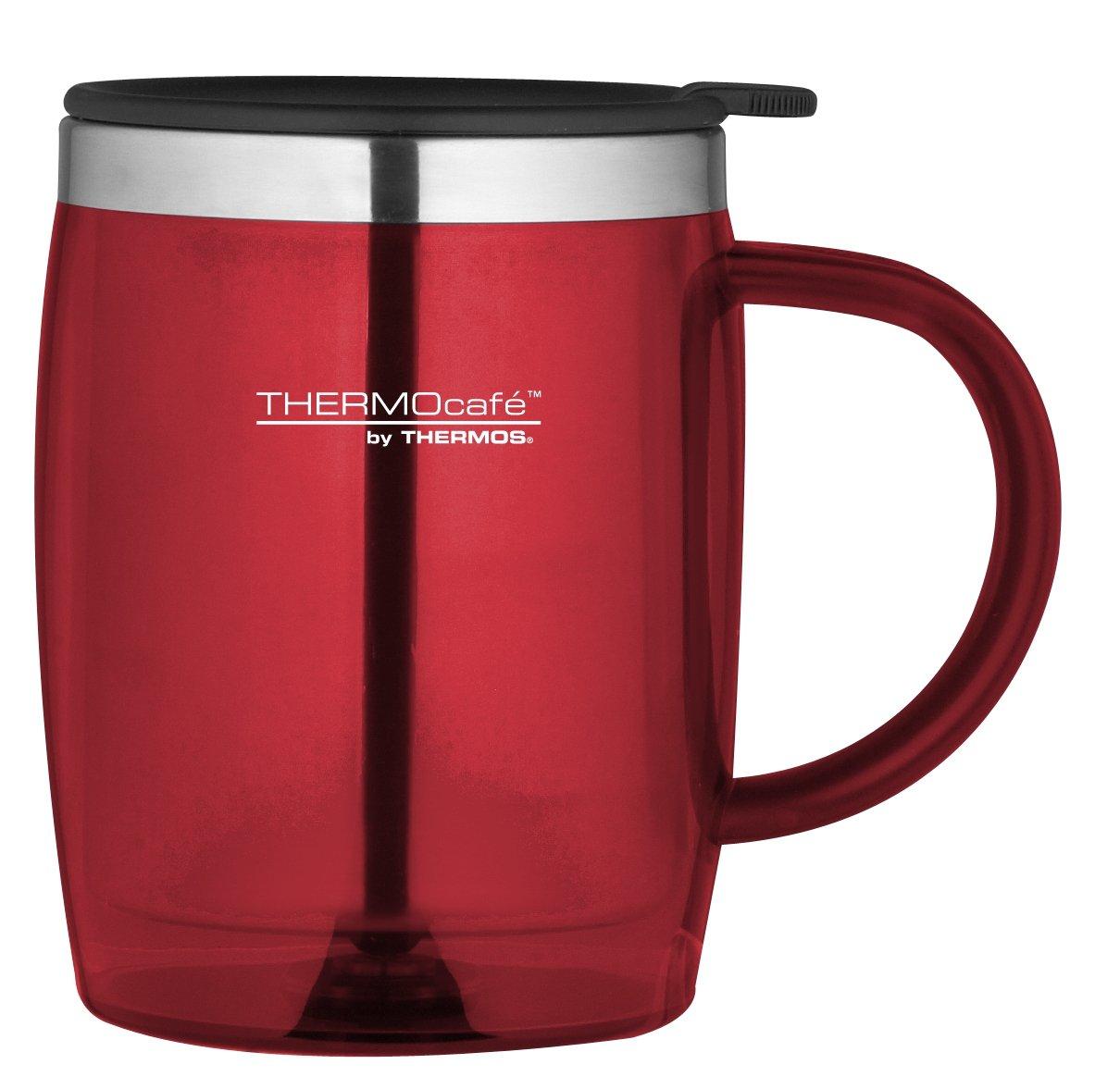 thermos thermocafe desk mug 450 ml red red desk mug thermo cafe ebay. Black Bedroom Furniture Sets. Home Design Ideas