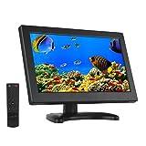 Eyoyo 12 Inch 16:9 Mini TFT LCD HDMI HD Monitor Screen 1366x768 Resolution with HDMI VGA BNC AV Input for PC Display CCTV Home Security (Color: 12 inch 1366x768)