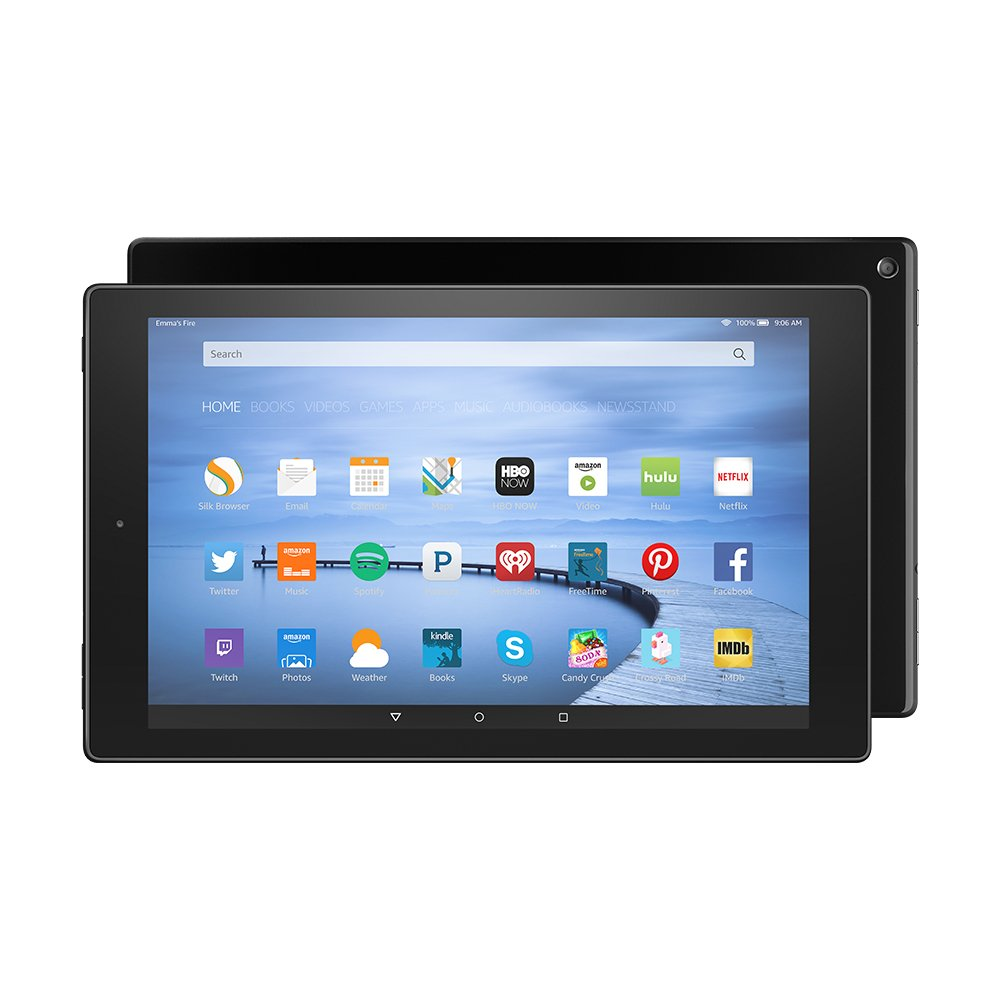 "Fire HD 10 Tablet, 10.1"" HD Display, Wi-Fi, 16 GB - Includes Special Offers, Black"