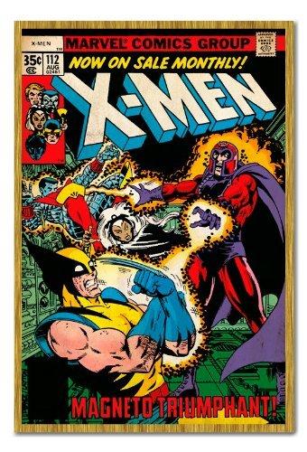 x-men-magneto-housse-comic-poster-tableau-memo-en-liege-broches-chene-encadree-965-x-66-cm-environ-9