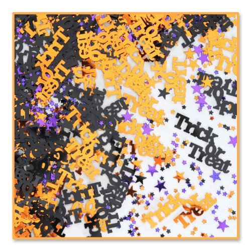 Beistle Trick or Treat Confetti, Orange/Black/Purple