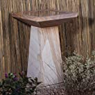 Garden Bird Bath Feeder - Polished Rainbow Stone Birdbath