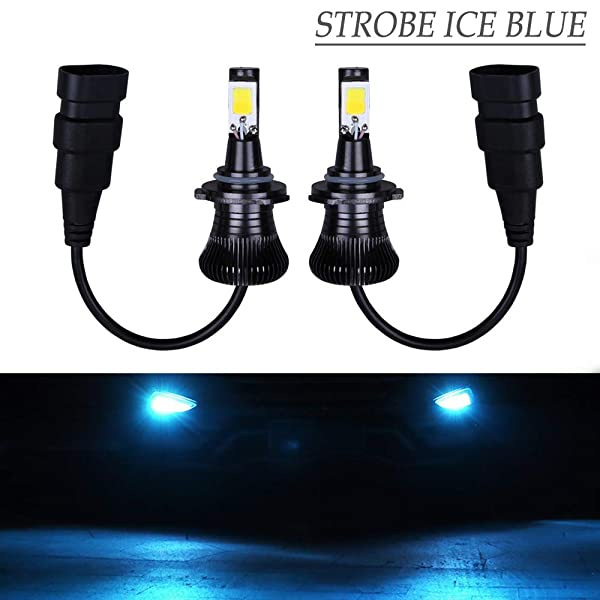 H1 Fog Light Bulb LED Amber Yellow 3000K Ice Blue 8000K Dual Color for Trucks Cars Lamps DRL Daytime Running Lights Kit Replacement Bulbs 12V 30W 2800LM Super Bright COB Chips 1 Year Warranty【1797】