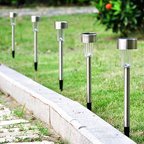 ... 8Pack 4Color Stainless Steel Outdoor Solar Lights For