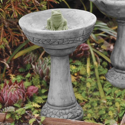Fairy Gardening Mini Bird Bath With Frog New Ebay