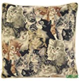 Tapestry Cushion Cover - Cats - Gobelin of Belgium Style