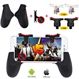 Fortnite PUBG Mobile Controller, Papakoyal PUBG Mobile Trigger Mobile Game Controller Sensitive Shoot and Aim Keys L1R1 Mobile Joystick for PUBG/Fornite/Knives Out. [4 Triggers+1 Gamepad+1 Joystick]