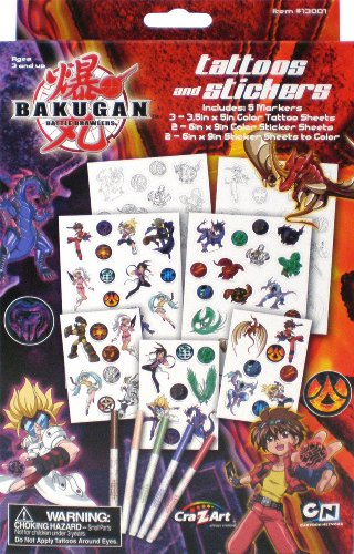 Cra-Z-Art Bakugan Battle Brawlers Tattoos and Stickers - 1