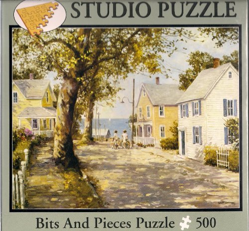 Seaside Village 500 Piece Puzzle by Robert Sarsony